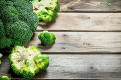 Pieces of fresh broccoli royalty free stock photo