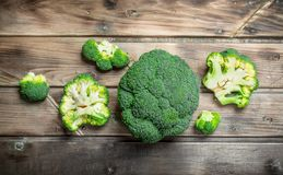 Pieces of fresh broccoli royalty free stock images
