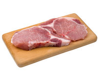 Pieces of fresh meat Stock Photo