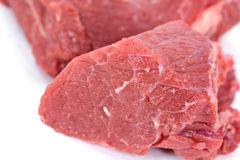 Pieces of fresh raw beef marble meat.  Royalty Free Stock Photos