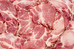 Pieces of fresh raw meat background Stock Photo