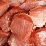 Pieces of fresh raw meat close-up. The pieces of fresh raw meat close-up Stock Images