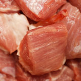Pieces of fresh raw meat close-up. The pieces of fresh raw meat close-up Royalty Free Stock Photography
