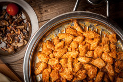 Pieces of fried chicken. Stock Images