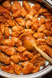 Pieces of fried chicken. Stock Photography