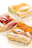 Pieces of fruit strudel Royalty Free Stock Photos