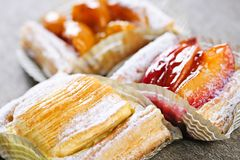Pieces of fruit strudel Stock Image