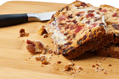 Pieces of fruitcake Stock Photography