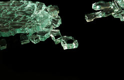 Pieces of glass. Abstract background of pieces of glass Stock Photography