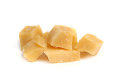 Pieces of gouda cheese Royalty Free Stock Photography