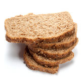 Pieces of grain bread isolated on white background Stock Photography