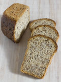 Pieces of grain bread without yeast royalty free stock photos