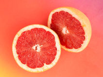 Pieces of grapefruit Stock Photos
