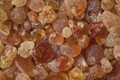 Pieces of Gum arabic. Full frame stock image