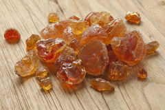 Pieces of Gum arabic. Heap of pieces of Gum arabic Stock Photography