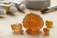 Pieces of Gum arabic royalty free stock photos