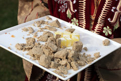Pieces of halva Stock Photos