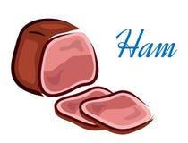 Pieces of ham Stock Photo