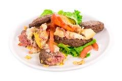 Pieces of hamburger. Stock Image