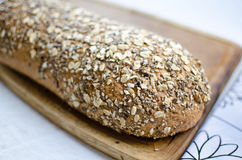 Pieces of homemade wholemeal bread Stock Images