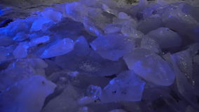 Pieces of Ice in Cave stock video footage