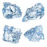 Pieces of ice isolated on white background. With clipping path Stock Image