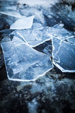 Pieces of ice on rock Royalty Free Stock Image