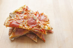 Pieces of Italian Delicious Hot Pizza. Royalty Free Stock Photo