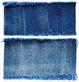 Pieces of jeans fabric Royalty Free Stock Image