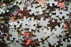Pieces of jigsaw puzzle Royalty Free Stock Photos