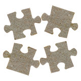 Pieces of a jigsaw puzzle isolated Stock Image