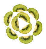 Pieces of kiwi Royalty Free Stock Images