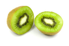 Pieces of kiwi isolated Stock Photo