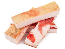 Pieces of lard Stock Photography
