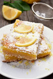 Pieces of lemon pie Royalty Free Stock Photo
