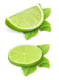 Pieces of lime Stock Images