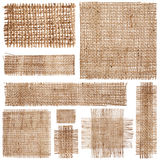 Pieces of linen fabric Royalty Free Stock Image