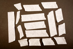 Pieces of masking tape. Pieces of white masking tape Royalty Free Stock Photography