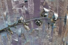 Pieces of masking tape painted with silver spray. metallic shades of gold and silver. N royalty free stock image