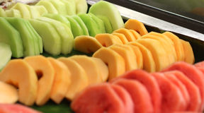 Pieces of melon Stock Images