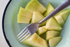 Pieces of melon Royalty Free Stock Photos