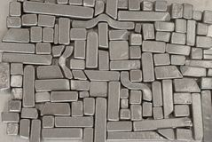 Pieces of metallic parts. Pieces of different metallic parts for recycling Stock Images