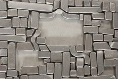 Pieces of metallic parts. Pieces of different metallic parts for recycling Stock Image