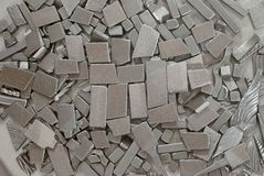 Pieces of metallic parts. Pieces of different metallic parts for recycling Royalty Free Stock Photo