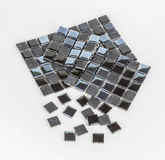 Pieces of mosaic tile. S on white background royalty free stock photos