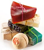 Pieces of natural soap. Royalty Free Stock Photos