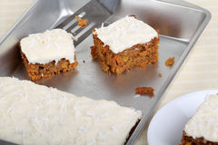 Pieces od Carrot Cake stock images