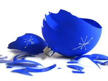 Free Pieces Of Broken Blue Ball Royalty Free Stock Photos - 3467698