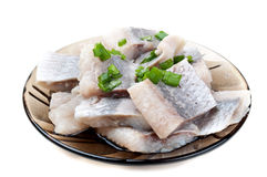 Free Pieces Of Herring On A Plate Stock Image - 19256891