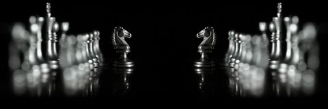 Free Pieces On Chess Board For Playing Game And Strategy Competition Face Off Royalty Free Stock Photos - 179424028